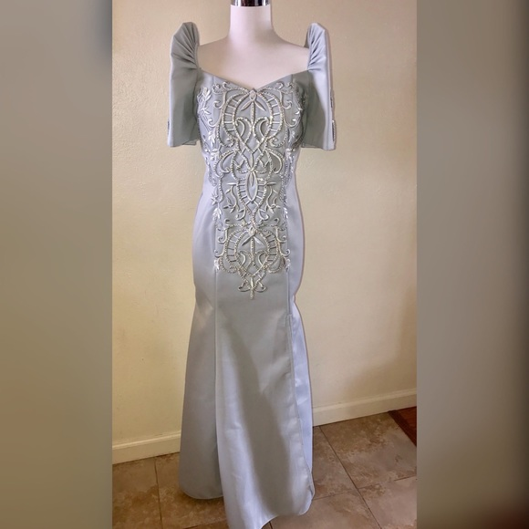 Majestic Vogue Collections Dresses | Gray Filipiniana Terno ...
